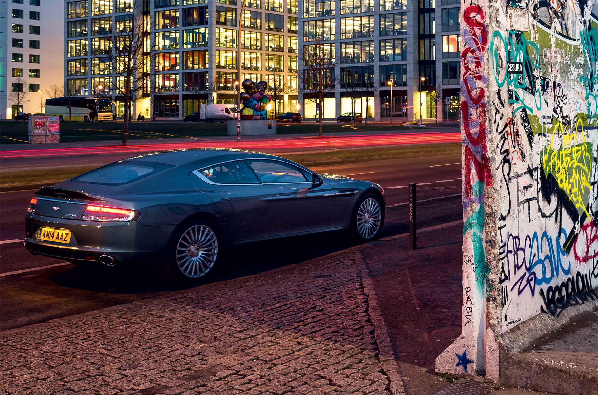 berlin at dusk a night drive in aston martin 39 s rapide s. Black Bedroom Furniture Sets. Home Design Ideas
