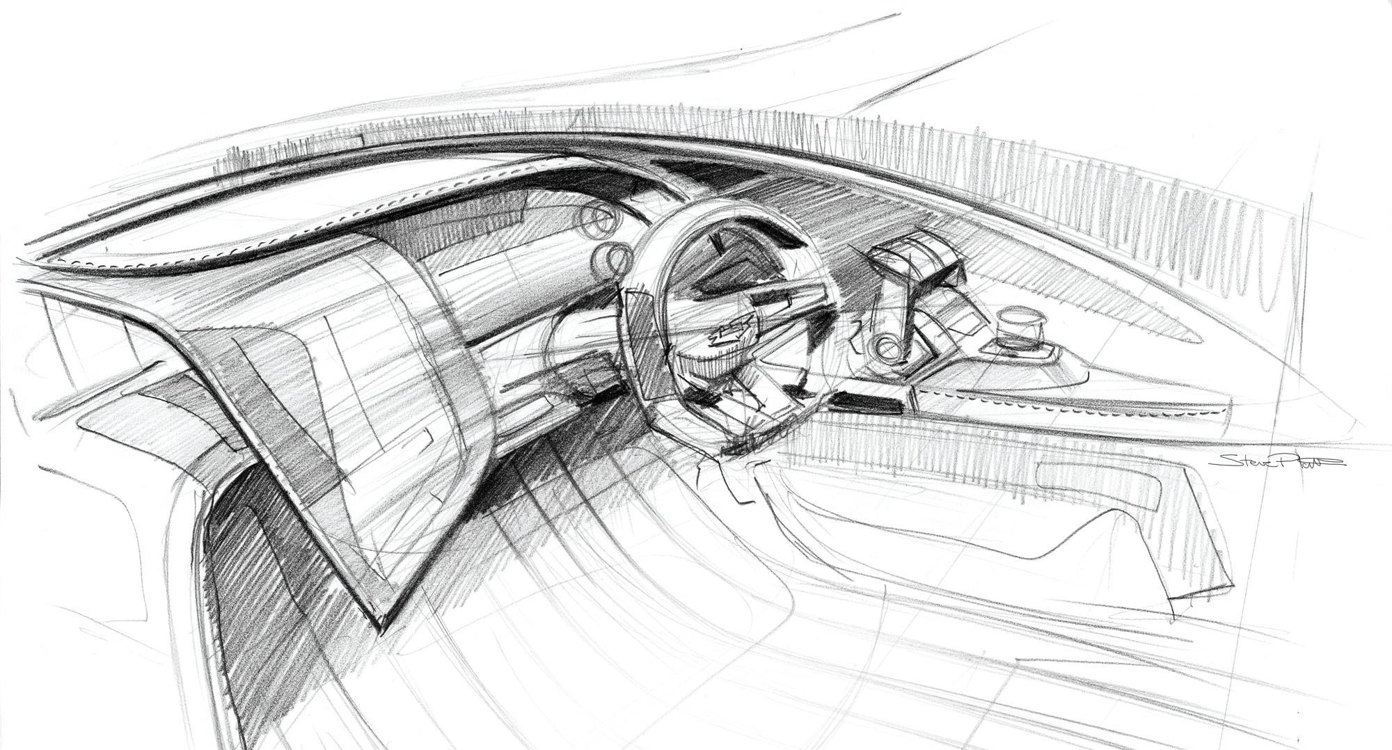 Original sketch of the AM37 cockpit