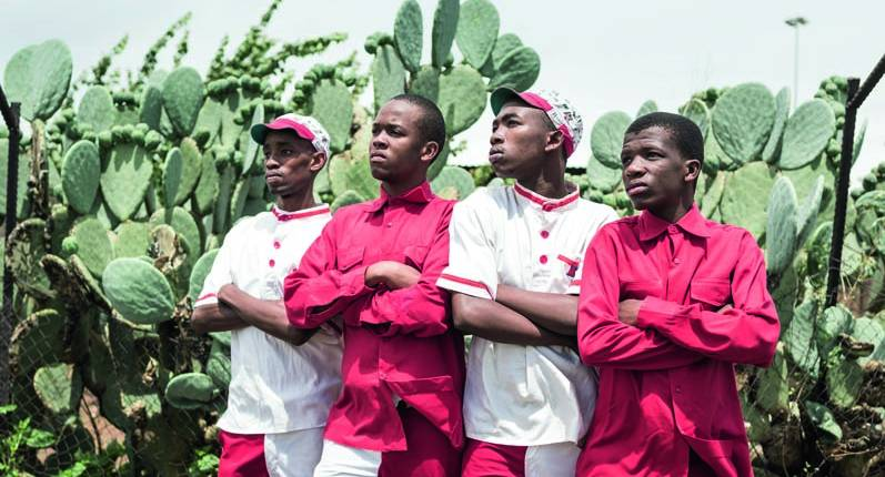 Members of the 325 dance crew in Orange Farm Township