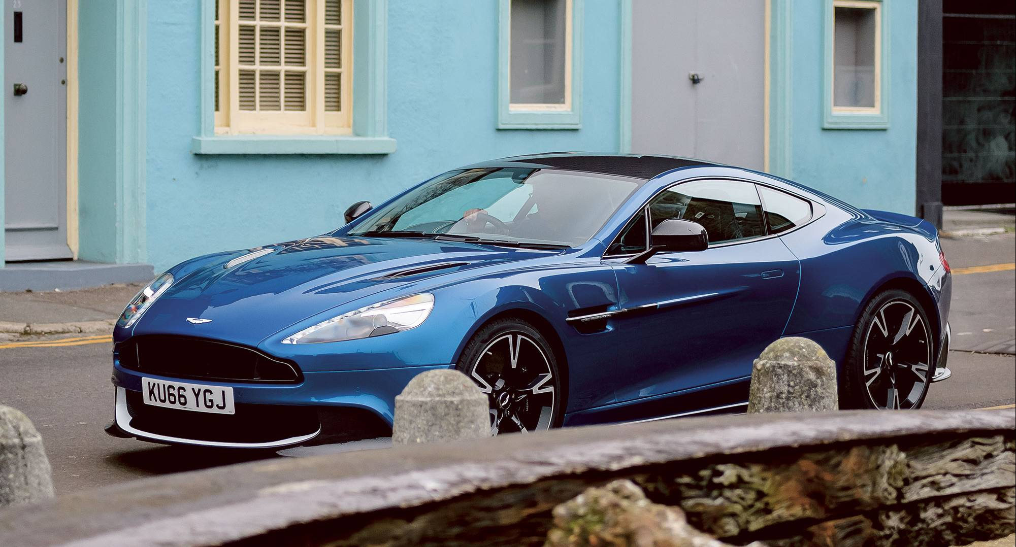 driving the aston martin vanquish s in the uk's cinque ports