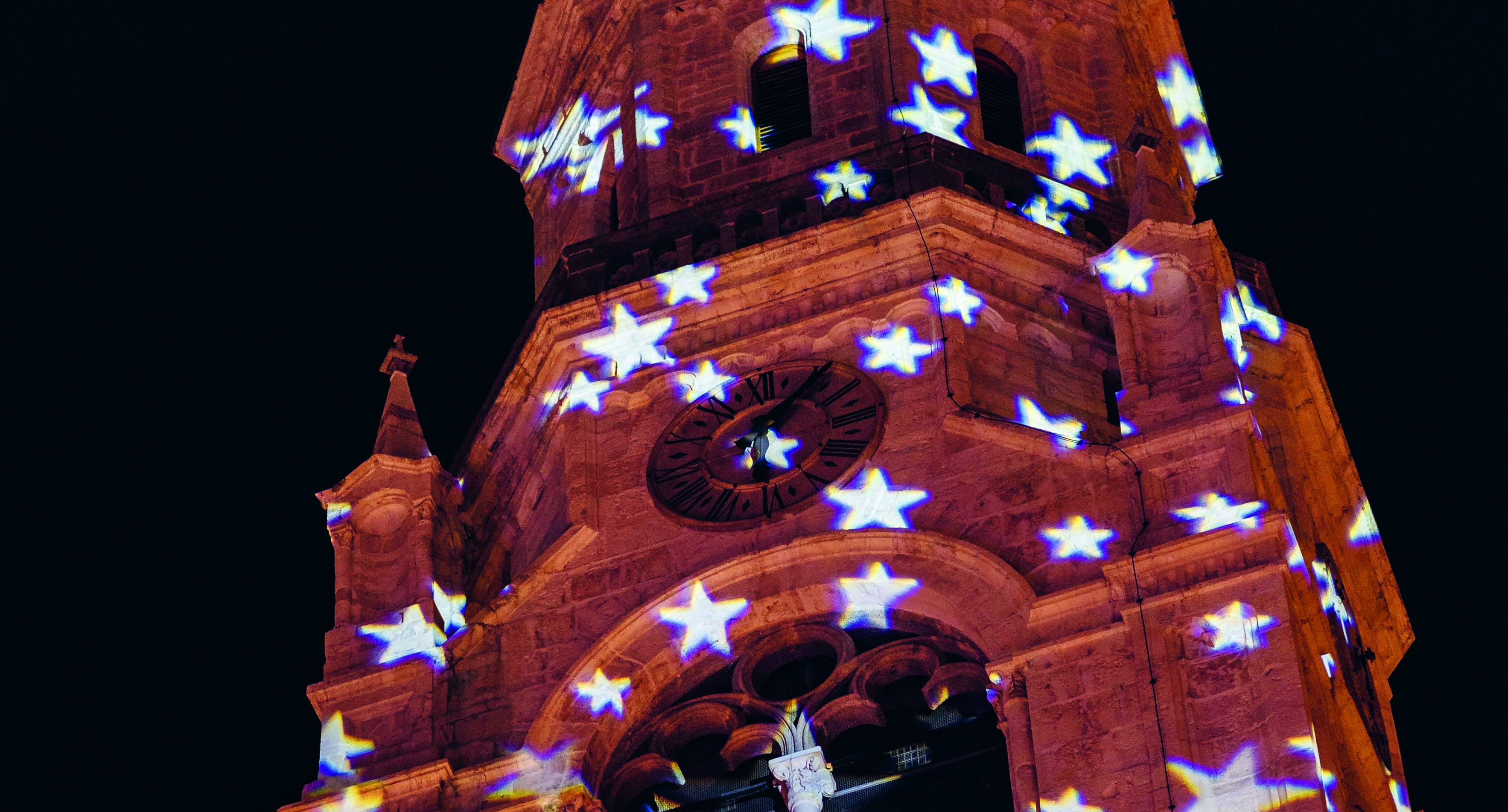 Projection mapping on the Basilica Minore dei Santi Filippo e Giacomo